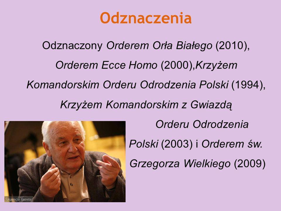 Wyróżnienia i nagrody Był laureatem nagrody Lux ex Silesia w 2003. Laureat wielu konkursów międzynarodowych i nagród państwowych. Jest doktorem honori