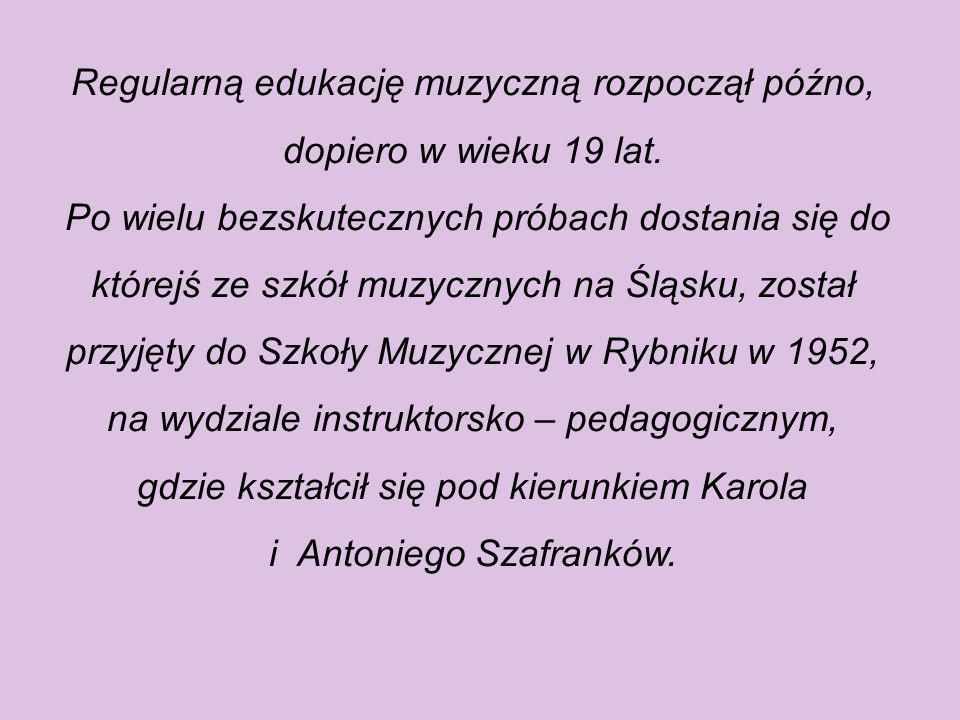 Henryk Mikołaj Górecki po ukończeniu rydułtowskiego liceum ogólnokształcącego zaczął zarabiać jako nauczyciel przedmiotów ogólnych w szkole w Radoszow