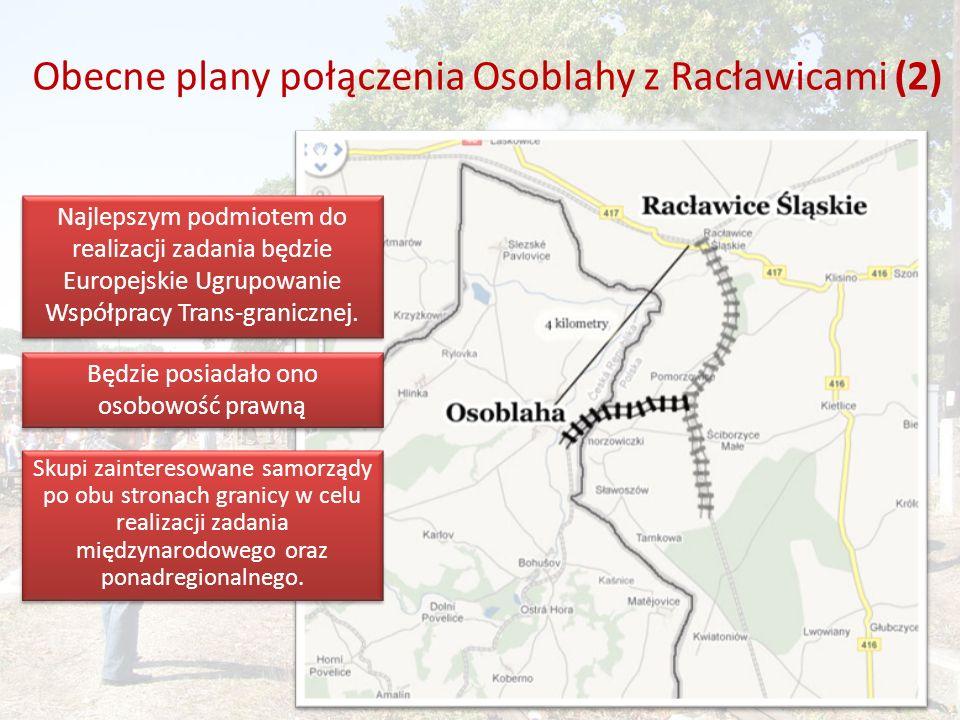 Obecne plany połączenia Osoblahy z Racławicami (2) Najlepszym podmiotem do realizacji zadania będzie Europejskie Ugrupowanie Współpracy Trans-granicznej.