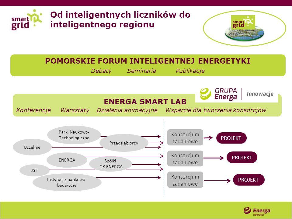 POMORSKIE FORUM INTELIGENTNEJ ENERGETYKI Debaty Seminaria Publikacje ENERGA JST Instytucje naukowo- badawcze Uczelnie Przedsiębiorcy Spółki GK ENERGA