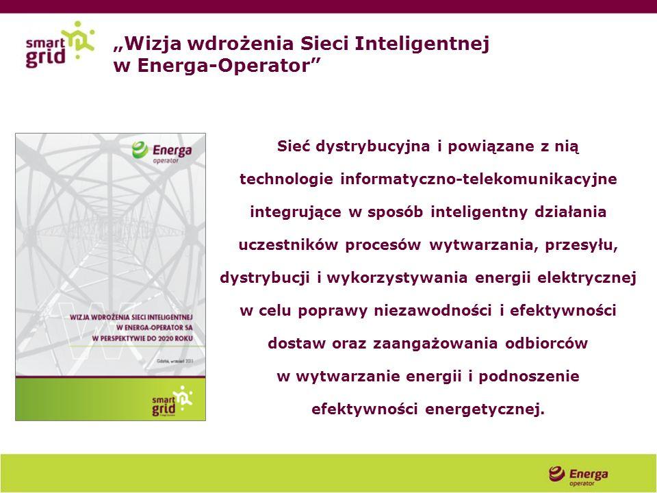 Wizja wdrożenia Sieci Inteligentnej w Energa-Operator Sieć dystrybucyjna i powiązane z nią technologie informatyczno-telekomunikacyjne integrujące w s