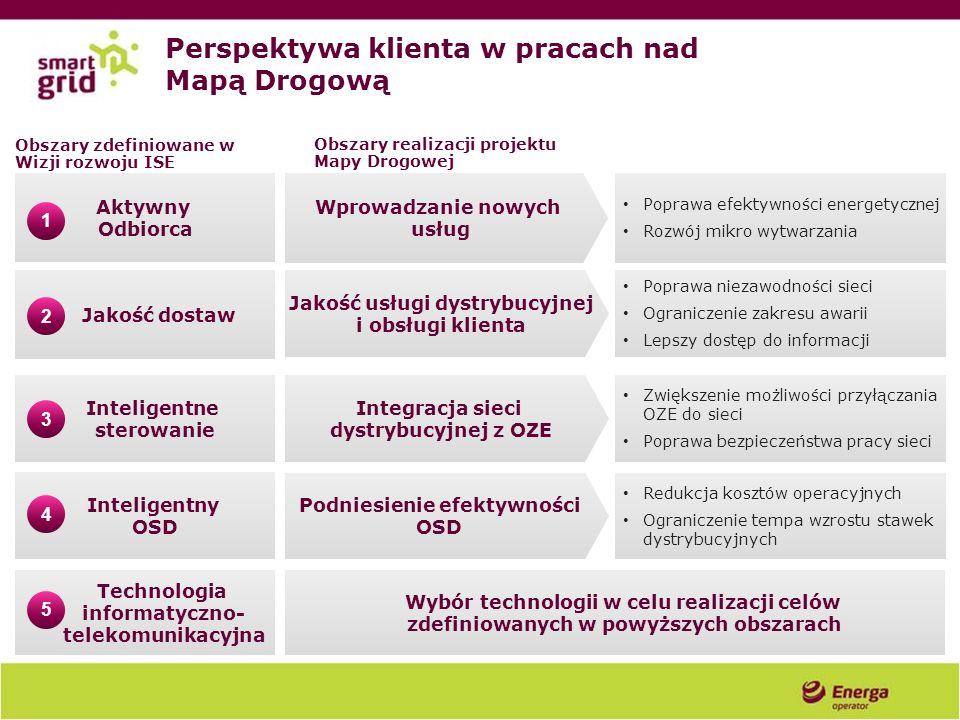 Aktywny Odbiorca Jakość dostaw Inteligentne sterowanie Inteligentny OSD Technologia informatyczno- telekomunikacyjna 1 2 3 4 5 Perspektywa klienta w p