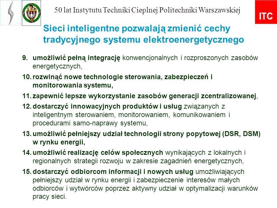 OportunitiesThreads Możliwość lepszego wykorzystania istniejącego majątku sektora, ograniczenie inwestycji w nowe moce, uniknięcie awarii sieci, Koszty osierocone nieudanej inwestycji (stranded costs) Możliwość realizacji polityki DSM.Niedopasowana polityka regulacyjna Wzrost efektywności energetycznej w sektorze i odbiorców końcowych Brak spełnienia warunku komunikacji miedzy sieciami (interoperability) Znaczne ograniczenie kosztów operacyjnychNiewłaściwa alokacja kosztów pomiędzy sektor energetyki i odbiorców końcowych Możliwość świadczenia nowych usług energetycznych po stronie wytwarzania i odbiorców Wpływ unbundlingu (konieczność synchronizacji decyzji inwestycyjnych z powstawaniem nowych usług energetycznych) Możliwość wchodzenia nowych graczy na rynek energetycznyOpóźnienie opracowywania standardów technicznych Włączenie celów środowiskowych do polityki spółek dystrybucyjnych Łatwiejsza budowa rynku energii poprzez stworzenie zachęt do powstawania nowych usług Usuwanie barier dla wprowadzania nowych technologii do sektora energetycznego Możliwość lepszego bilansowania systemu i lepszej integracji OZE Zwiększenie niezawodności i jakości zasilania Możliwość świadczenia usług przez prosumentów Możliwość rozwoju wytwarzania urządzeń wysokiej technologii Korzyści dla spółek energetycznych (jasny sygnał inwestycyjny, kompensacja kosztów) 2.
