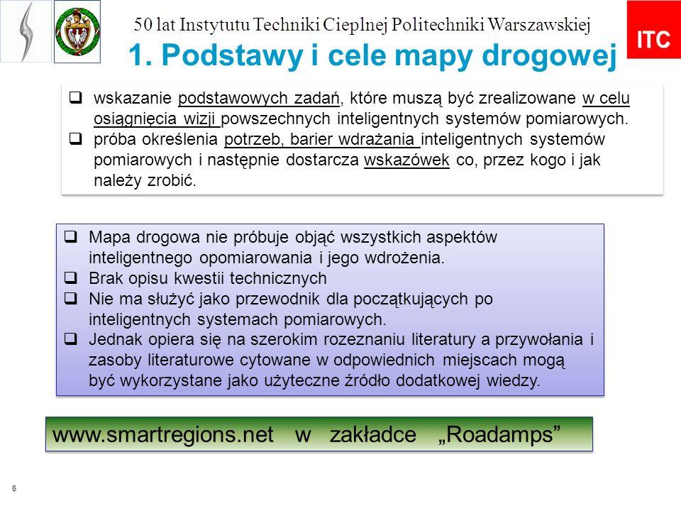 6 1. Podstawy i cele mapy drogowej wskazanie podstawowych zadań, które muszą być zrealizowane w celu osiągnięcia wizji powszechnych inteligentnych sys