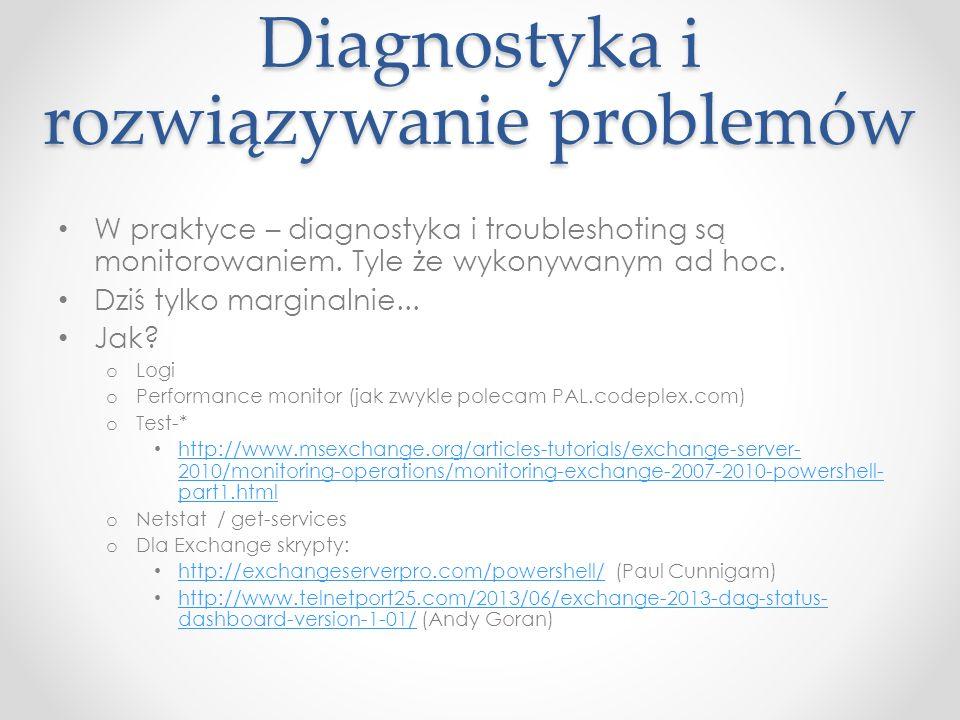Diagnostyka i rozwiązywanie problemów W praktyce – diagnostyka i troubleshoting są monitorowaniem.