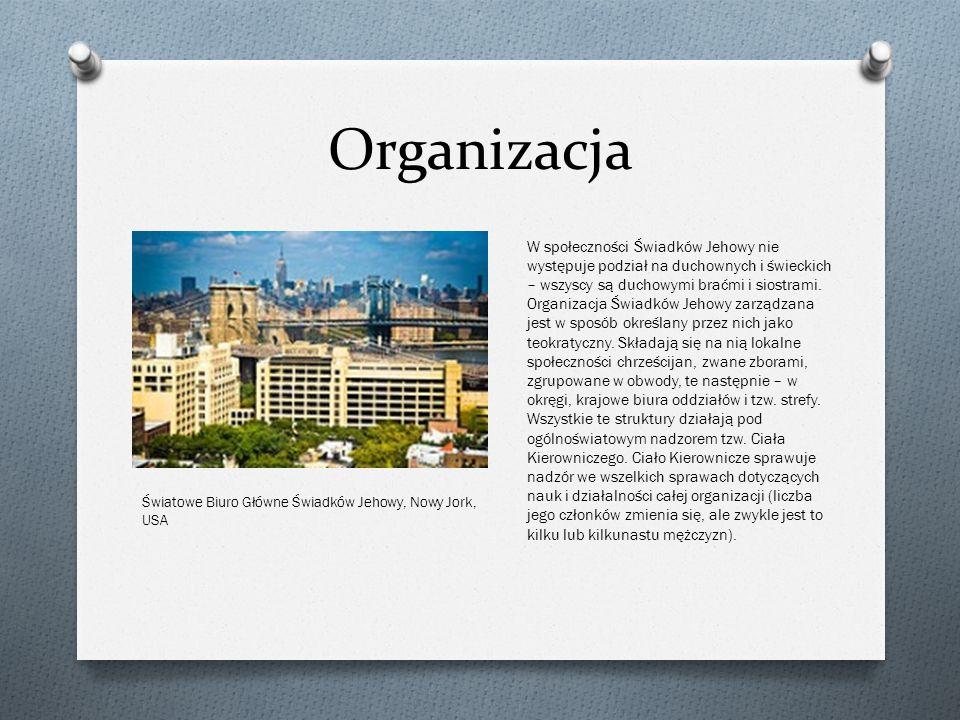 Organizacja W społeczności Świadków Jehowy nie występuje podział na duchownych i świeckich – wszyscy są duchowymi braćmi i siostrami. Organizacja Świa