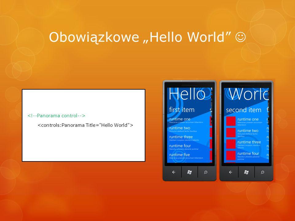 Obowiązkowe Hello World