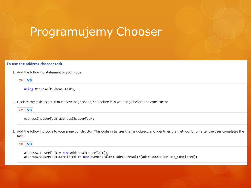 Programujemy Chooser