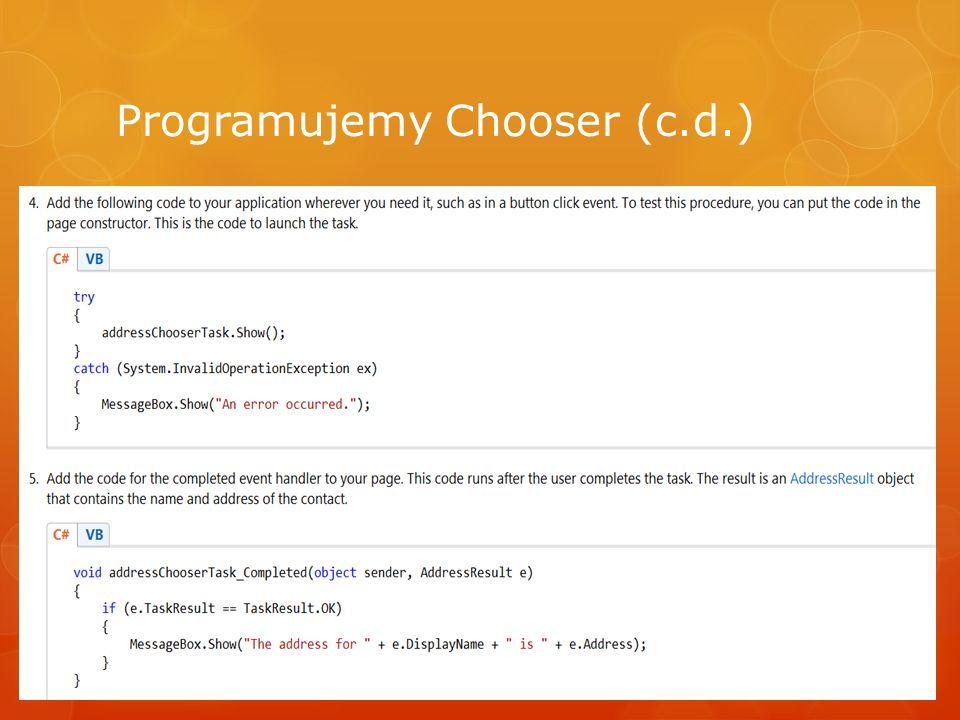 Programujemy Chooser (c.d.)