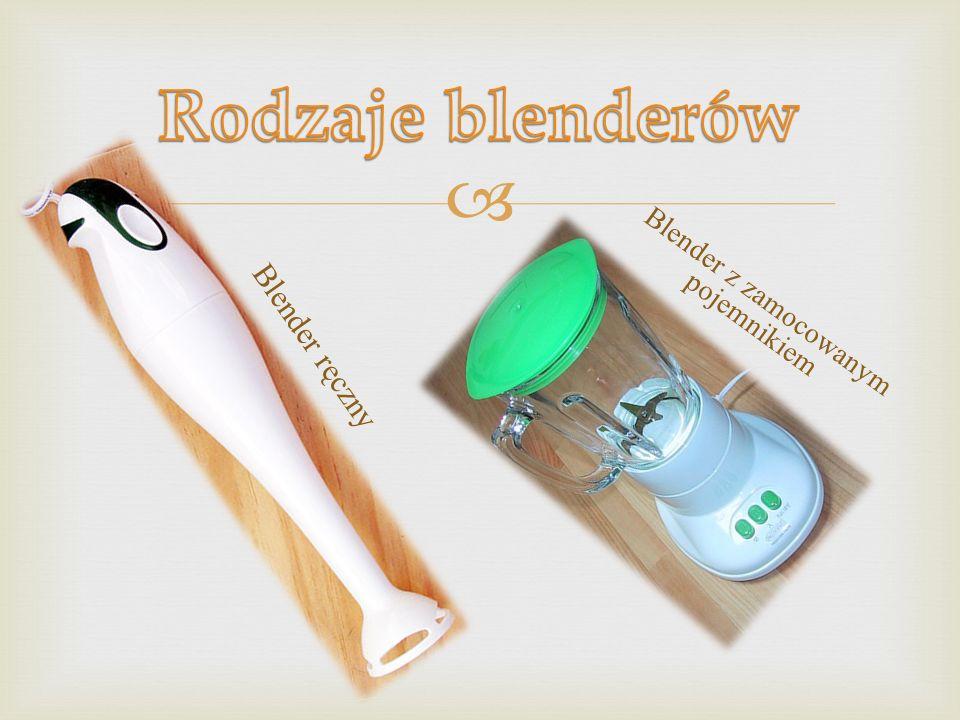 Blender – elektryczne urządzenie kuchenne, służące do miksowania lub mieszania. Najczęściej używane jest do przyrządzania koktajli owocowych, warzywny