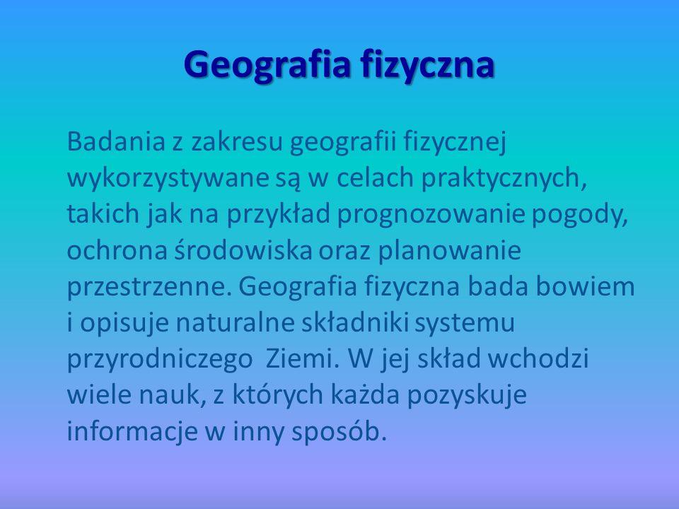 Geomorfologia To nauka o rzeźbie powierzchni Ziemi.