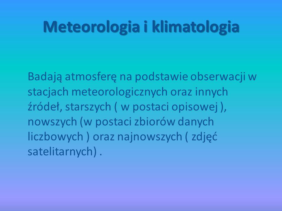 Hydrografia Zajmuje sie wodną powłoką Ziemi.