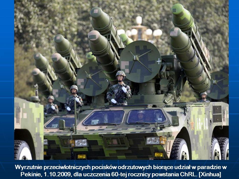 Wyrzutnie przeciwlotniczych pocisków odrzutowych biorące udział w paradzie w Pekinie, 1.10.2009, dla uczczenia 60-tej rocznicy powstania ChRL. [Xinhua