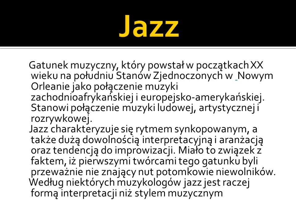 James Lincoln Collier wyróżnia trzy podstawowe atrybuty jazzu: swing, funkcję ekstatyczną i kod indywidualny.