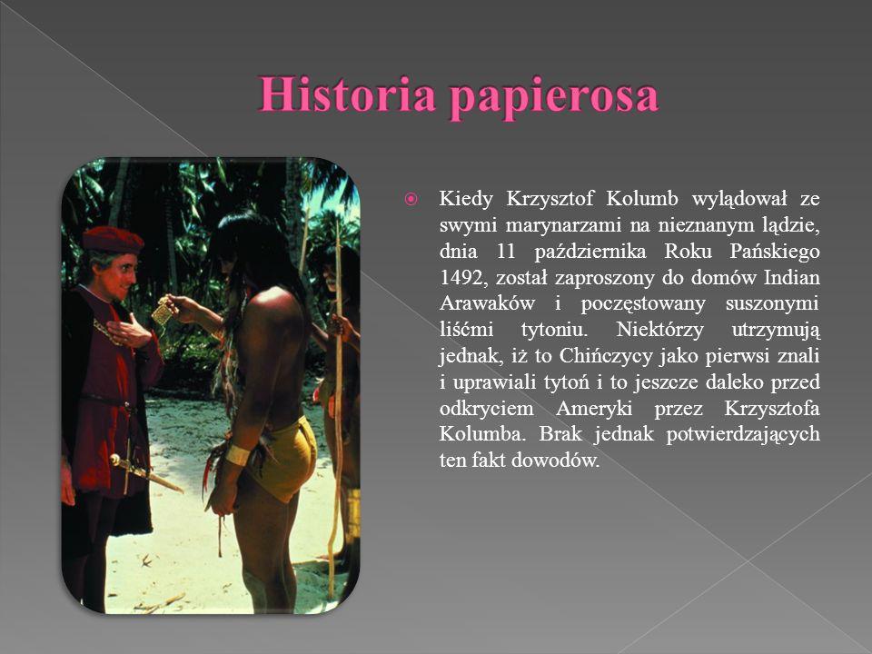 Kiedy Krzysztof Kolumb wylądował ze swymi marynarzami na nieznanym lądzie, dnia 11 października Roku Pańskiego 1492, został zaproszony do domów Indian