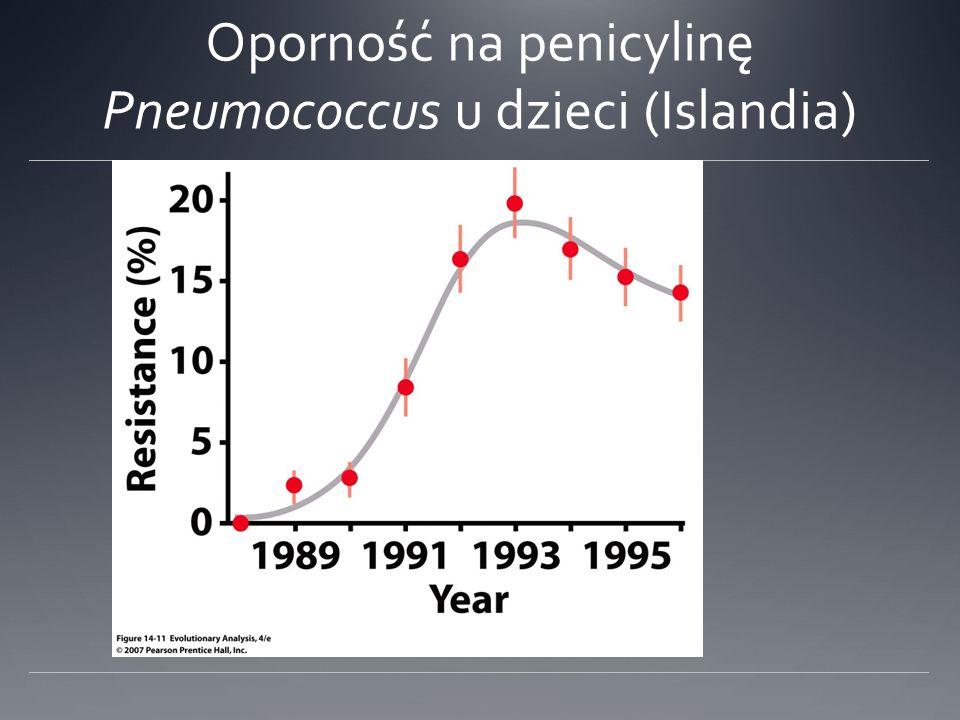 Oporność na penicylinę Pneumococcus u dzieci (Islandia)