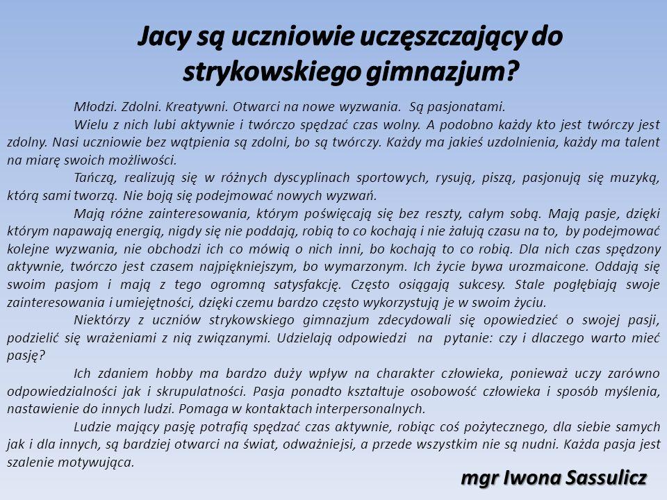 uczennica klasy III c Gimnazjum nr 1 im.