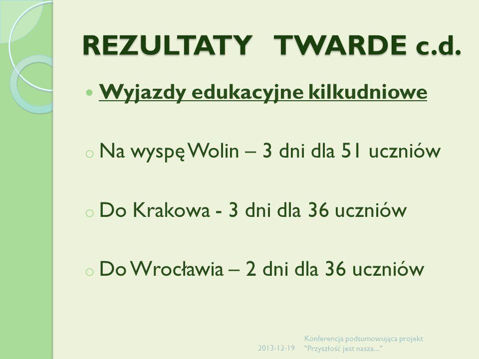 REZULTATY TWARDE c.d.