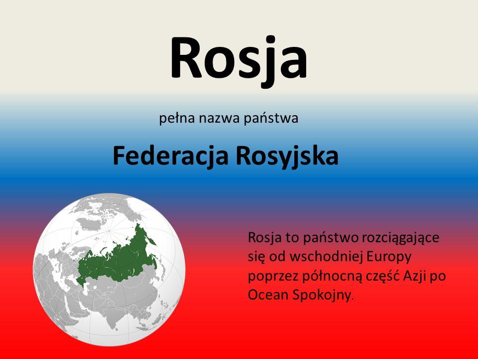 Flaga i godło Rosji Podstawowe informacje o Rosji2 Flaga Rosji Godło Rosji