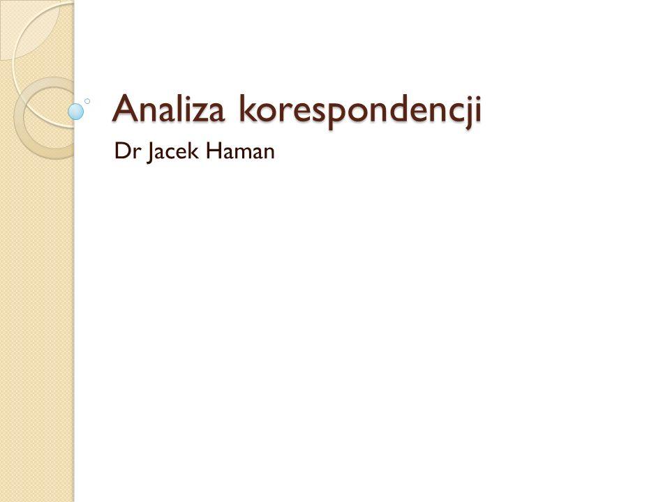 Analiza korespondencji Dr Jacek Haman