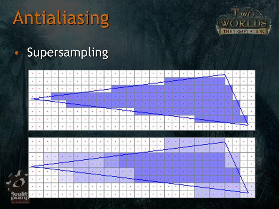 SupersamplingSupersampling Antialiasing
