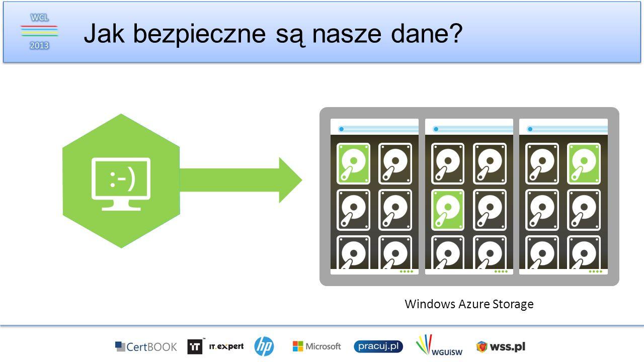 Jak bezpieczne są nasze dane? Windows Azure Storage