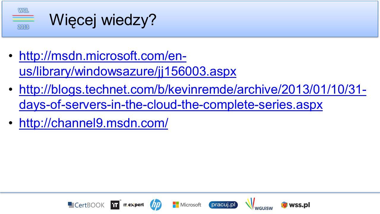 http://msdn.microsoft.com/en- us/library/windowsazure/jj156003.aspxhttp://msdn.microsoft.com/en- us/library/windowsazure/jj156003.aspx http://blogs.te