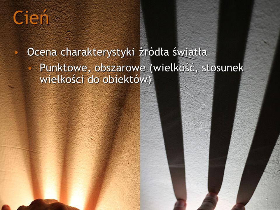 Shadow mapaShadow mapa Musi być generowana z każdą zmiana światłaMusi być generowana z każdą zmiana światła Musi być generowana z każda zmianą obiektów rzucających cieńMusi być generowana z każda zmianą obiektów rzucających cień W zależności od algorytmu może być niezależna od ruchu okaW zależności od algorytmu może być niezależna od ruchu oka Problem doboru projekcji przy konstrukcji macierzy światłaProblem doboru projekcji przy konstrukcji macierzy światła Problem doboru shadow casterów oraz frustumProblem doboru shadow casterów oraz frustum Problem undersamplinguProblem undersamplingu Problem filtrowaniaProblem filtrowania Shadow Mapping