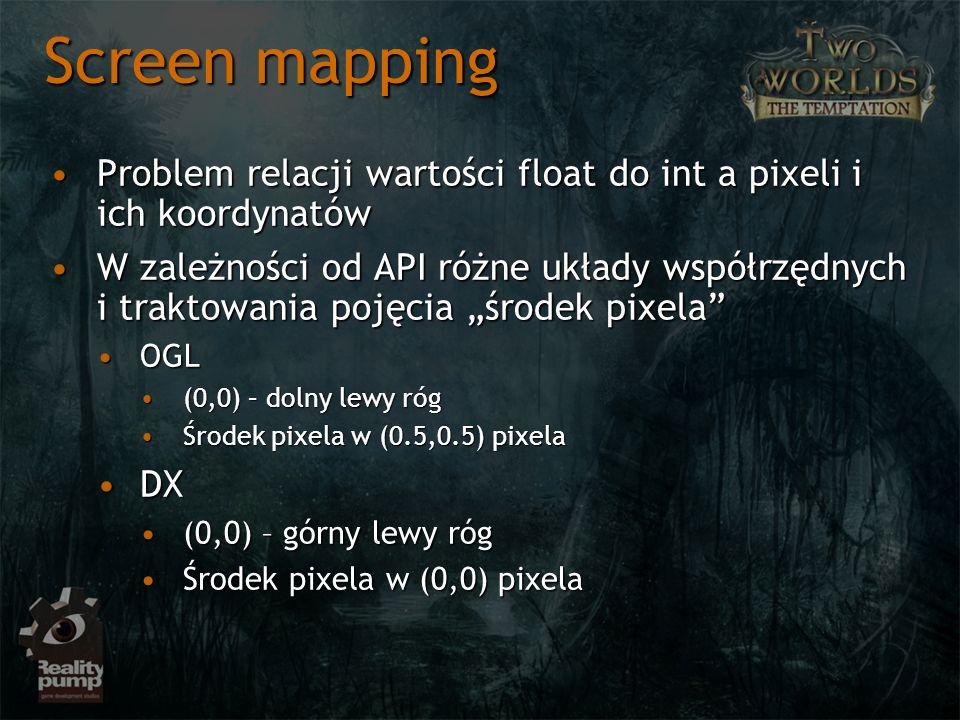 Screen mapping Problem relacji wartości float do int a pixeli i ich koordynatówProblem relacji wartości float do int a pixeli i ich koordynatów W zale