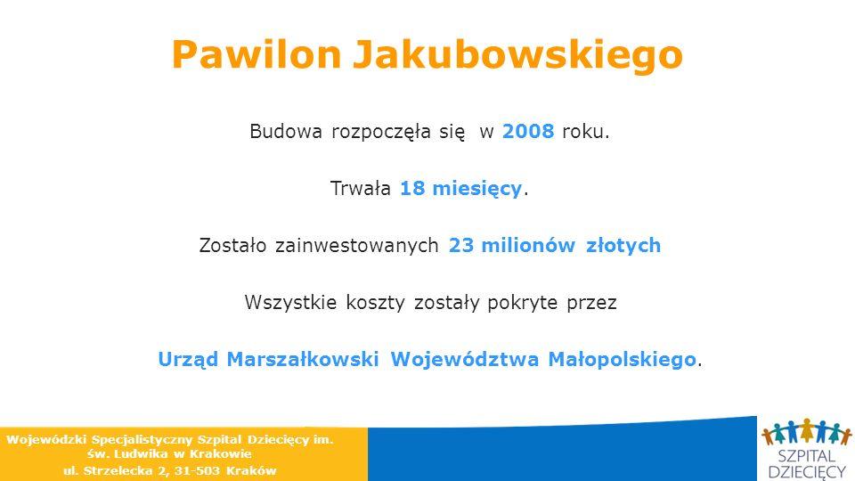 Pawilon Jakubowskiego Budowa rozpoczęła się w 2008 roku. Trwała 18 miesięcy. Zostało zainwestowanych 23 milionów złotych Wszystkie koszty zostały pokr