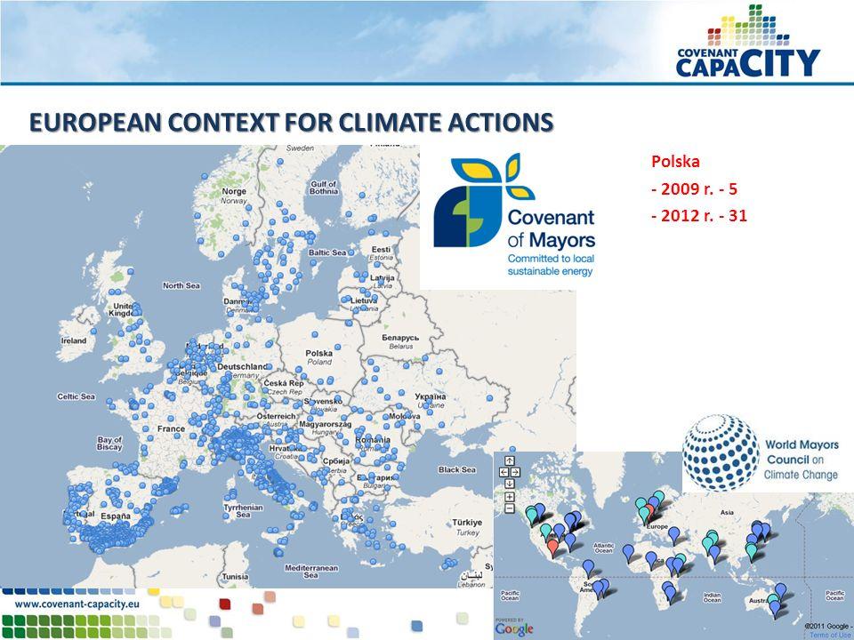 EUROPEAN CONTEXT FOR CLIMATE ACTIONS Polska - 2009 r. - 5 - 2012 r. - 31
