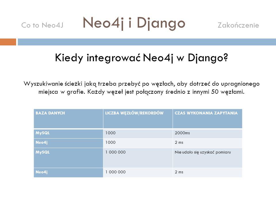 Kiedy integrować Neo4j w Django? Wyszukiwanie ścieżki jaką trzeba przebyć po węzłach, aby dotrzeć do upragnionego miejsca w grafie. Każdy węzeł jest p