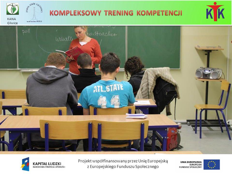 Projekt współfinansowany przez Unię Europejską z Europejskiego Funduszu Społecznego KANA Gliwice