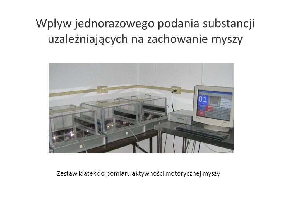 Zestaw klatek do pomiaru aktywności motorycznej myszy