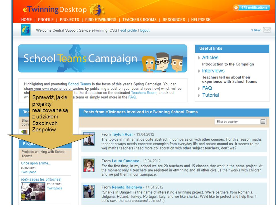 Jeśli należysz do Szkolnych Zespołów lub chciałbyś coś skomentować, przedstawić swoje pomysły czy propozycje, przejdź do swojego Profilu i zamieść wpis w swoim Dzienniku