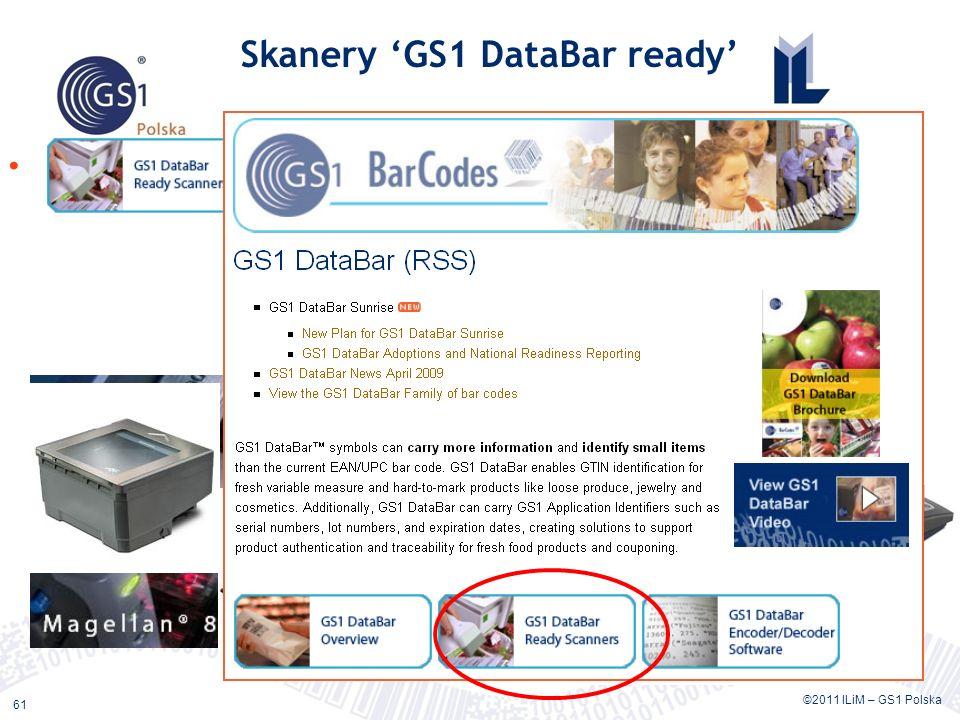 ©2011 ILiM – GS1 Polska 61 Skanery GS1 DataBar ready Sprzęt do odczytu kodów GS1 DataBar na stronie GS1 GO LINKLINK