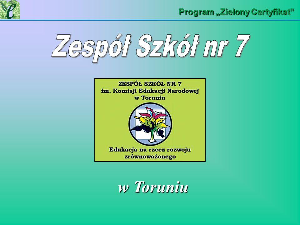 Program Zielony Certyfikat w Toruniu w Toruniu