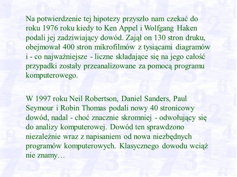 W 1997 roku Neil Robertson, Daniel Sanders, Paul Seymour i Robin Thomas podali nowy 40 stronicowy dowód, nadal - choć znacznie skromniej - odwołujący się do analizy komputerowej.