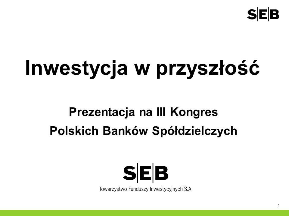 1 Inwestycja w przyszłość Prezentacja na III Kongres Polskich Banków Spółdzielczych