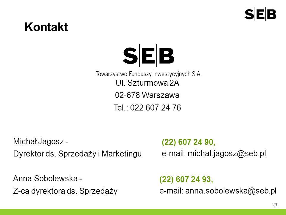 23 Kontakt Ul. Szturmowa 2A 02-678 Warszawa Tel.: 022 607 24 76 Michał Jagosz - Dyrektor ds. Sprzedaży i Marketingu Anna Sobolewska - Z-ca dyrektora d