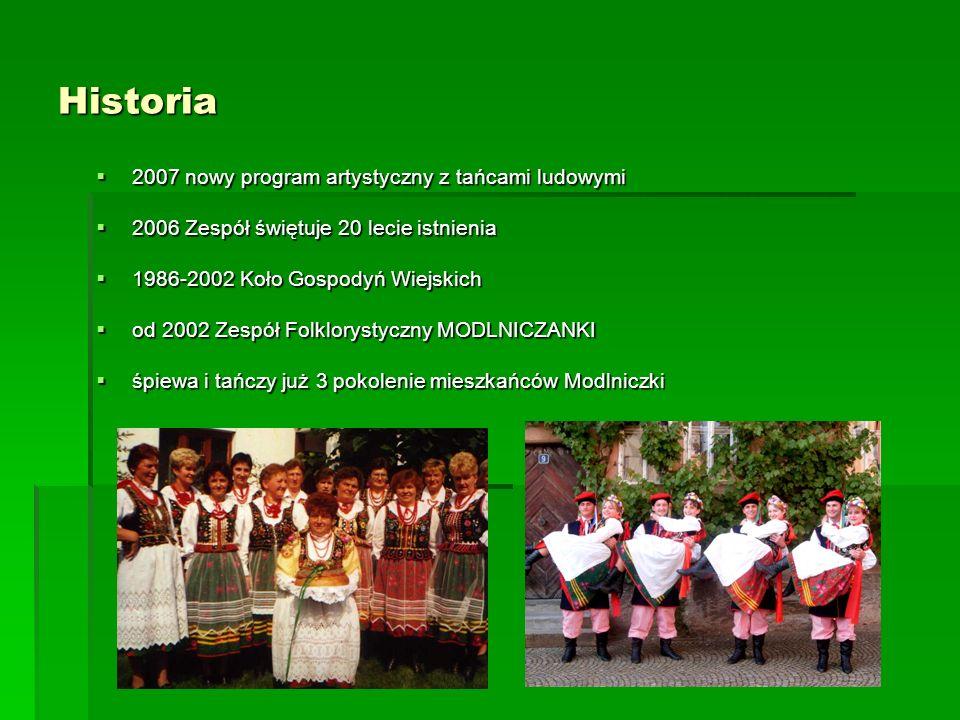 Historia 2007 nowy program artystyczny z tańcami ludowymi 2007 nowy program artystyczny z tańcami ludowymi 2006 Zespół świętuje 20 lecie istnienia 200