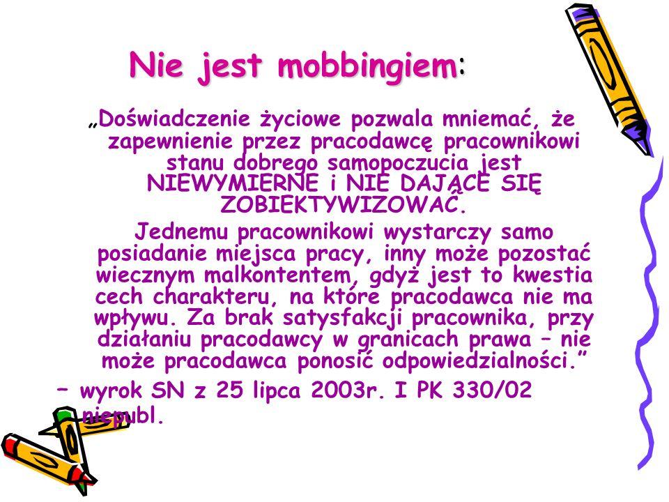 Obowiązki pracodawcy w zakresie mobbingu · Art.94 3 K.p.