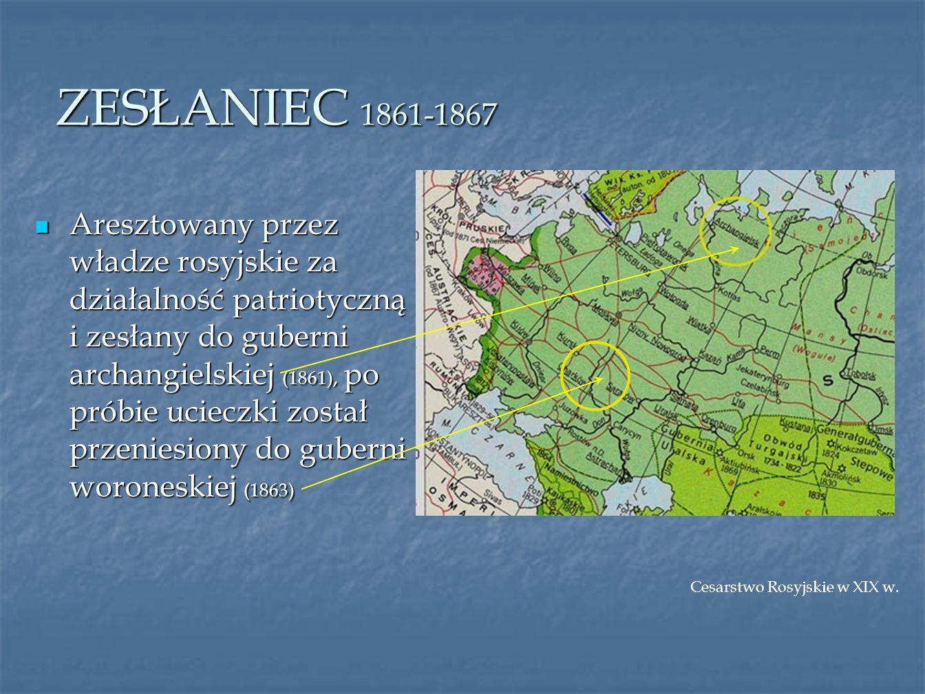 EMIGRANT 1870-1906 Europa w latach 1871-1914 Opuszcza Warszawę, do której przybył po zesłaniu, przenosi się do Lwowa (1870), później do Genewy (1877) i Paryża (1889) Opuszcza Warszawę, do której przybył po zesłaniu, przenosi się do Lwowa (1870), później do Genewy (1877) i Paryża (1889)