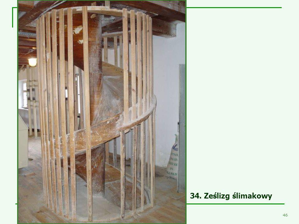 - Młyn Śmiałowice - 44 Niezwykle ciekawym obiektem był, znajdujący się w budynku magazynu, układany z klepek wykonanych z sosny kanadyjskiej, drewnian