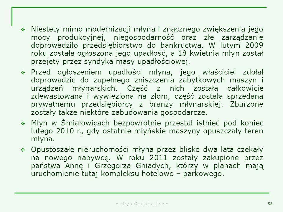 - Młyn Śmiałowice - 53 41. Rowkarka do walców firmy MIAG