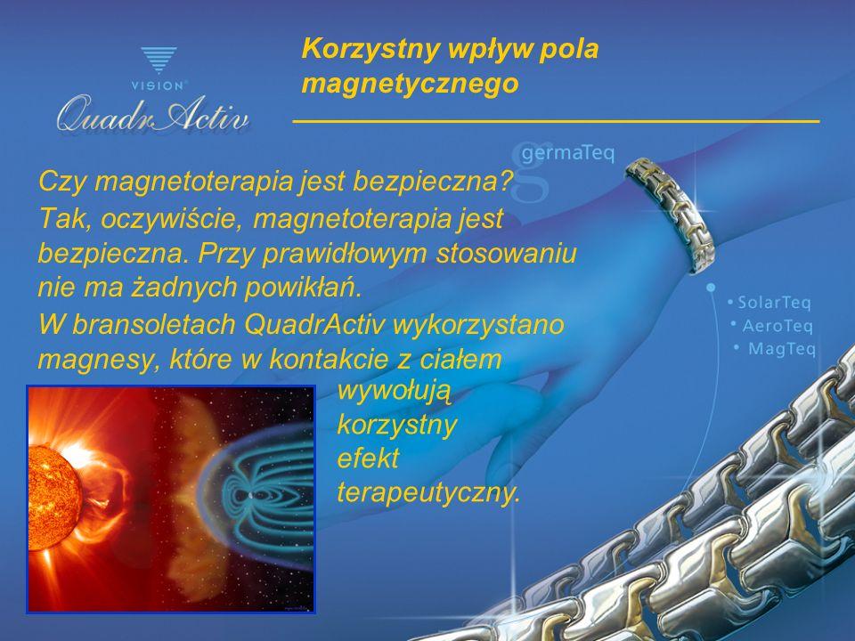 Korzystny wpływ pola magnetycznego Czy magnetoterapia jest bezpieczna? Tak, oczywiście, magnetoterapia jest bezpieczna. Przy prawidłowym stosowaniu ni