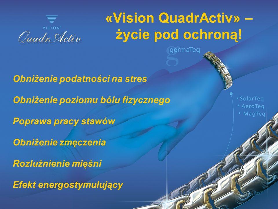 «Vision QuadrActiv» – życie pod ochroną! Obniżenie podatności na stres Obniżenie poziomu bólu fizycznego Poprawa pracy stawów Obniżenie zmęczenia Rozl