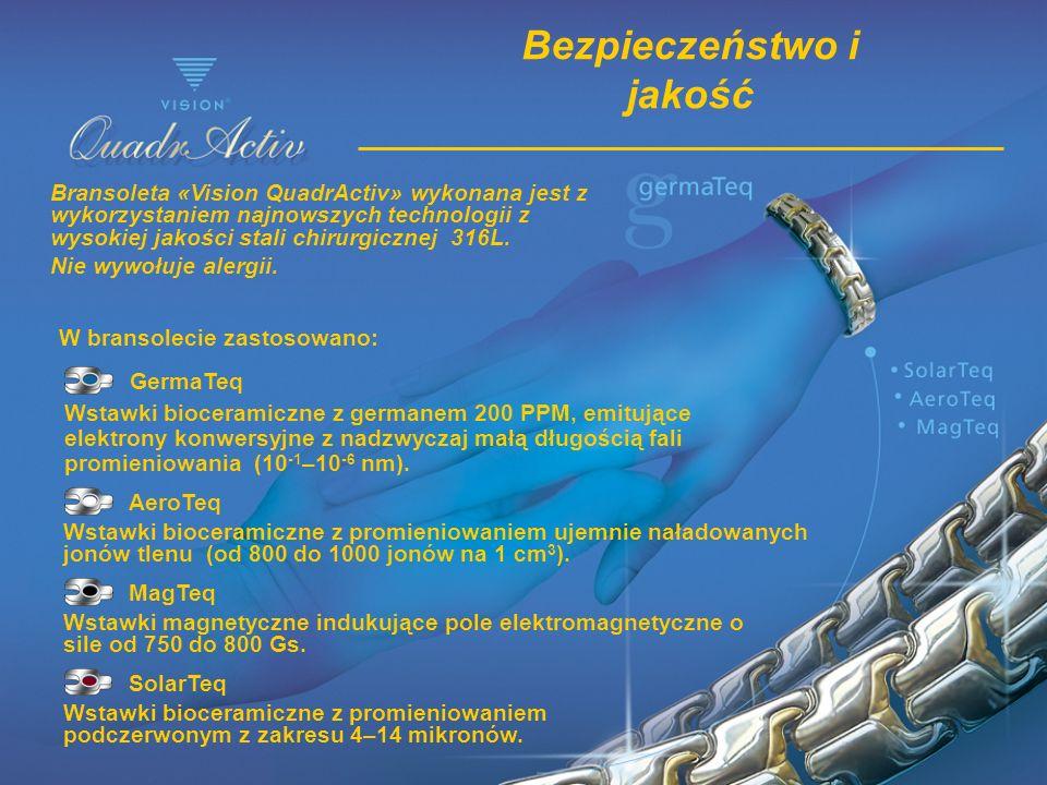 SolarTeq Wstawki bioceramiczne z promieniowaniem podczerwonym z zakresu 4–14 mikronów. MagTeq Wstawki magnetyczne indukujące pole elektromagnetyczne o