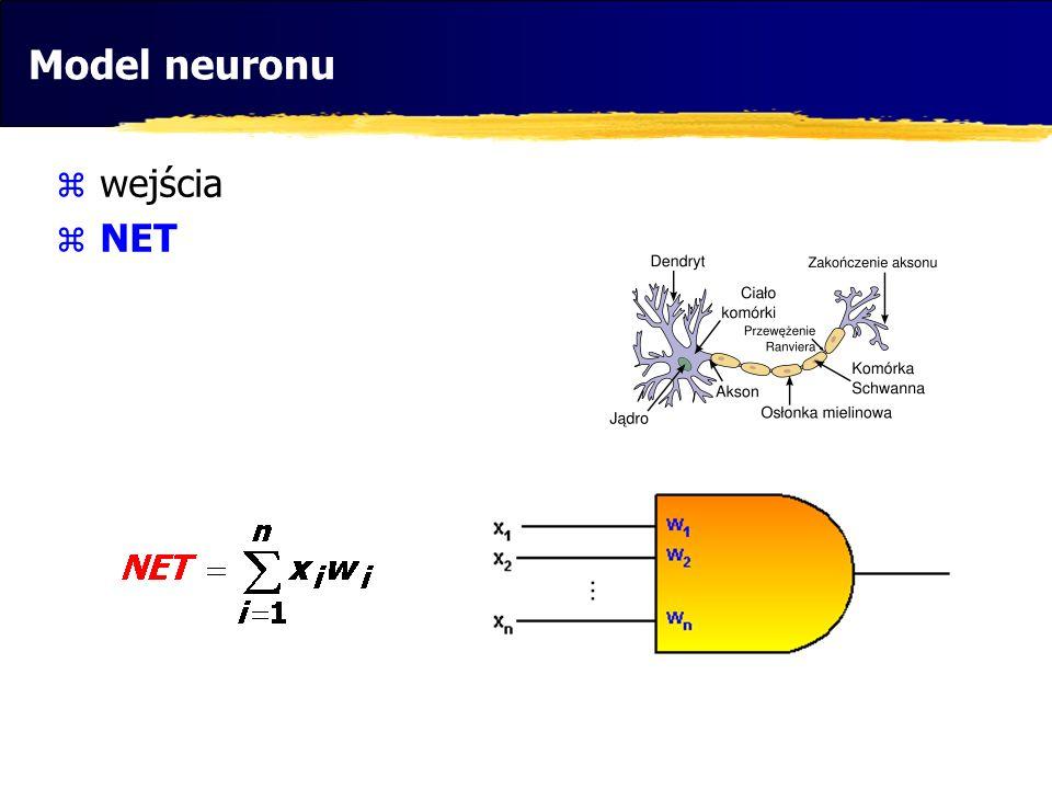 Alternatywy cd....sztuczny neuron w literaturze schemat neuronu w piśmiennictwie: L.