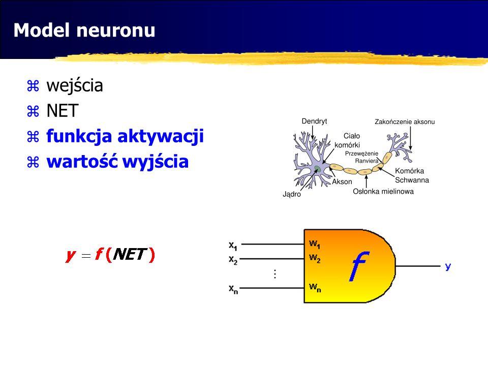 Perceptron… perceptron: neuron o dyskretnej funkcji aktywacji zastosowanie: klasyfikacja zdolność do uogólniania (?)
